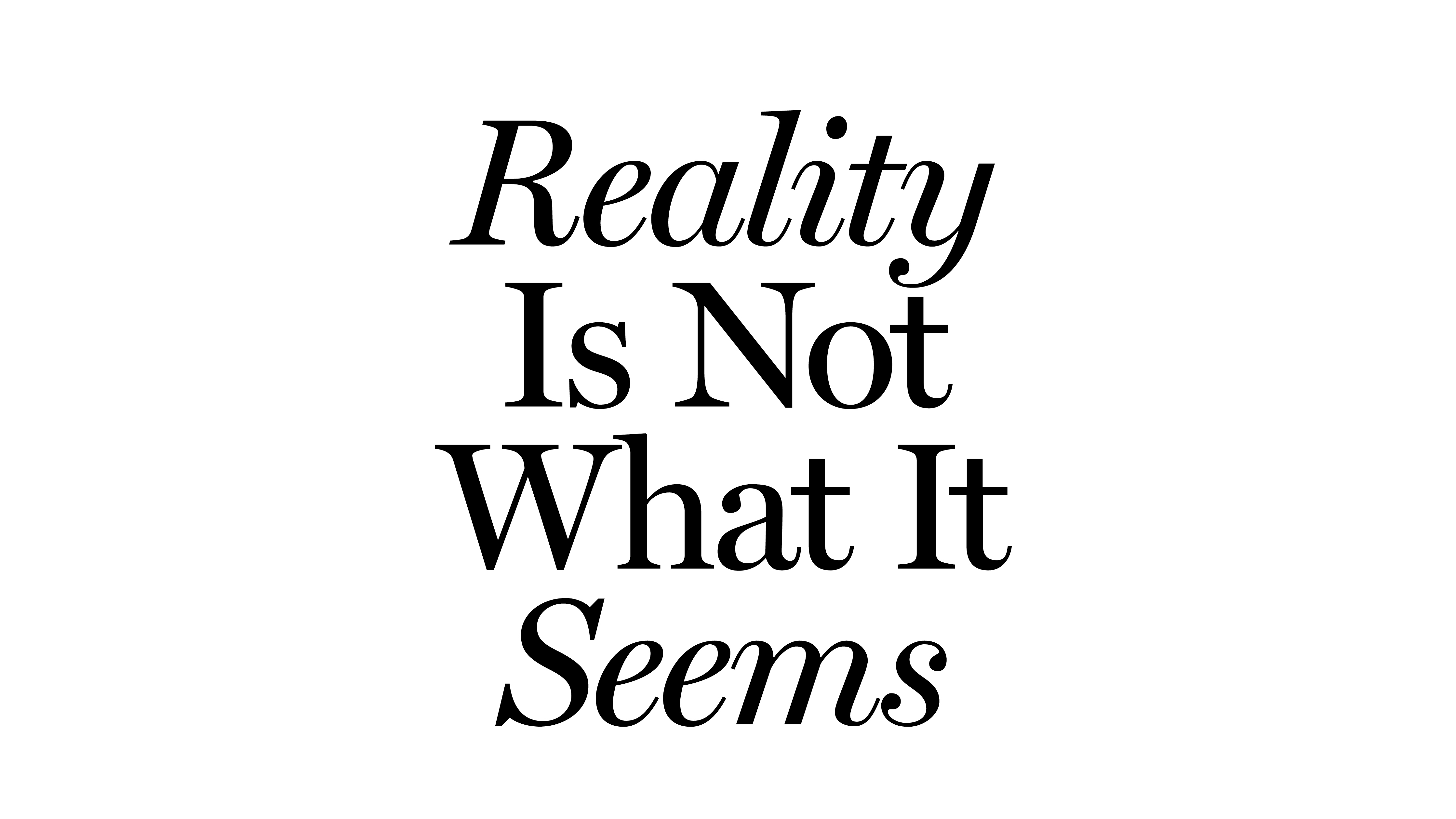 REALITY IS NOT WHAT IT SEEMS - JOUSSE