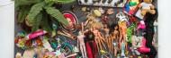 DANIEL SPOERRI_was bleibt_2015/2016 #10 Was bleibt! Flohmarkt Vienna Samstag, 28. November 2015 17h 85 x 140 x 60 cm